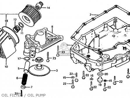 Honda Cb1000c 1000 Custom 1983 d Usa Oil Filter   Oil Pump