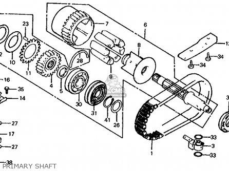 Honda Cb1000c 1000 Custom 1983 d Usa Primary Shaft
