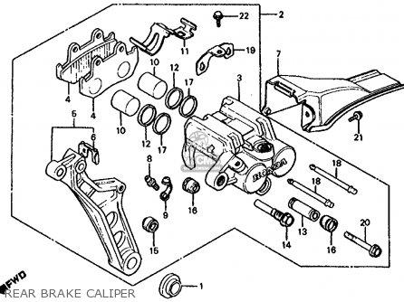 Honda Cb1000c 1000 Custom 1983 d Usa Rear Brake Caliper