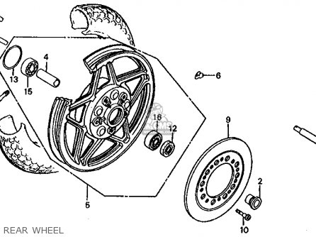 Honda Cb1000c 1000 Custom 1983 d Usa Rear Wheel