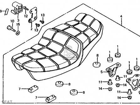 Honda Cb1000c 1000 Custom 1983 d Usa Seat