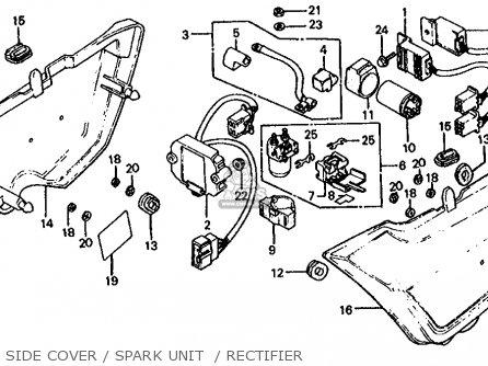 Honda Cb1000c 1000 Custom 1983 d Usa Side Cover   Spark Unit    Rectifier