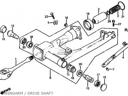 Honda Cb1000c 1000 Custom 1983 d Usa Swingarm   Drive Shaft