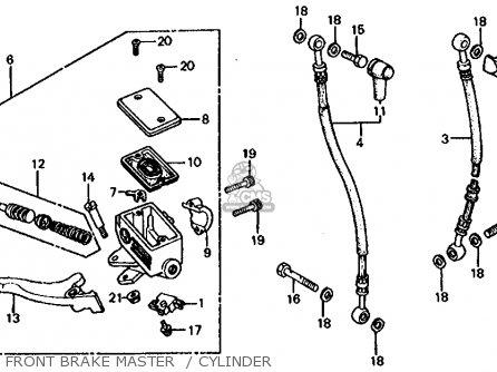Honda Cb1000c 1000 Custom 1983 Usa Front Brake Master    Cylinder