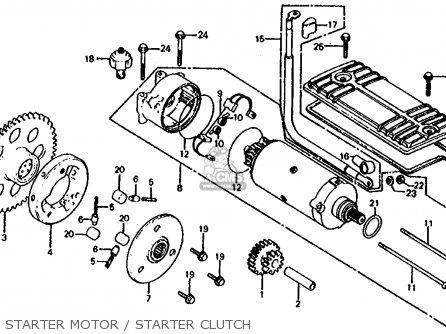 Honda Cb1000c 1000 Custom 1983 Usa Starter Motor   Starter Clutch