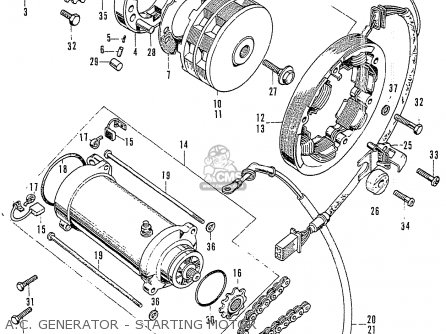 Honda Cb125k3 A c  Generator - Starting Motor