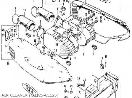 Honda Cb125k3 Air Cleaner cb125-cl125