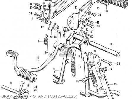 Honda Cb125k3 Brake Pedal - Stand cb125-cl125