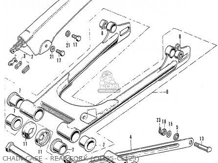 Honda Cb125k3 Chain Case - Rear Fork cb125-cl125