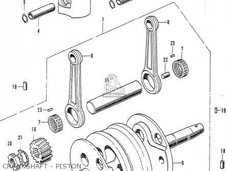 Honda Cb125k3 Crankshaft - Piston