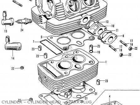 Honda Cb125k3 Cylinder - Cylinder Head - Spark Plug
