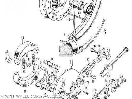 Honda Cb125k3 Front Wheel cb125-cl125