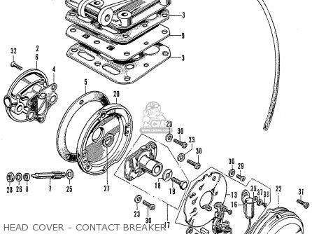 Honda Cb125k3 Head Cover - Contact Breaker