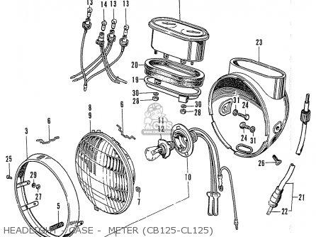Honda Cb125k3 Headlight - Case -  Meter cb125-cl125