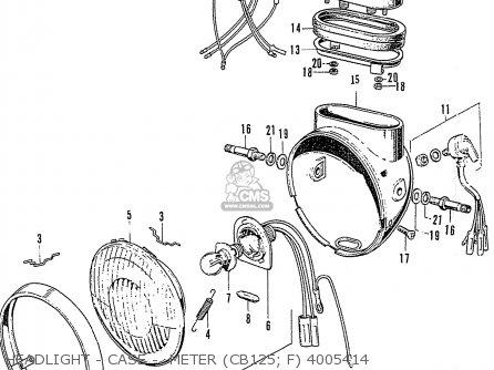 Honda Cb125k3 Headlight - Case -  Meter cb125  F 4005414