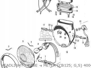 Honda Cb125k3 Headlight - Case -  Meter cb125  G s 4004603~