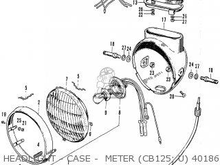 Honda Cb125k3 Headlight - Case -  Meter cb125  U 4018674~