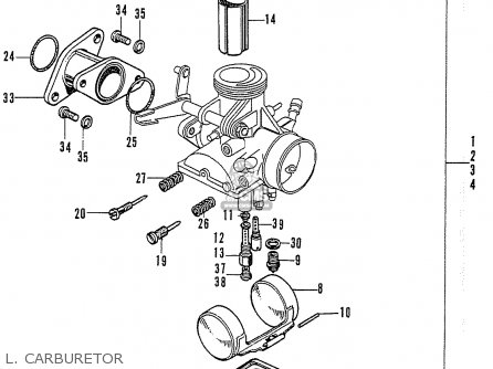 Honda Cb125k3 L  Carburetor