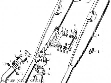 Honda Cb125k3 Muffler cb125-cb125a