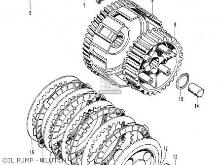 Honda Cb125k3 Oil Pump - Clutch