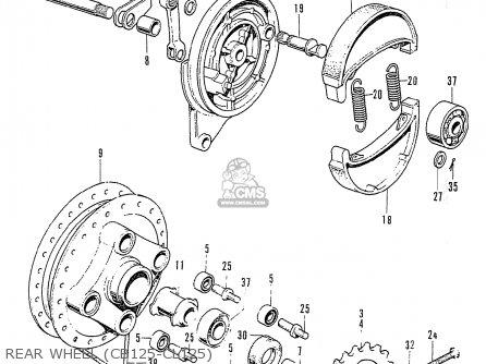 Honda Cb125k3 Rear Wheel cb125-cl125