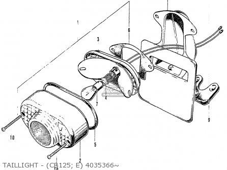 Honda Cb125k3 Taillight - cb125  E 4035366~
