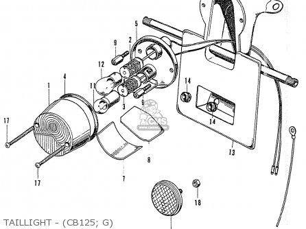 Honda Cb125k3 Taillight - cb125  G