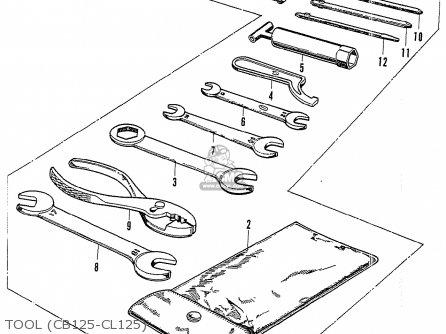 Honda Cb125k3 Tool cb125-cl125