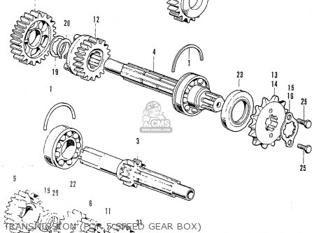 Honda Cb125k3 Transmission for 5 Speed Gear Box