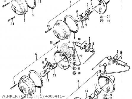 Honda Cb125k3 Winker cb125  F e 4005411~
