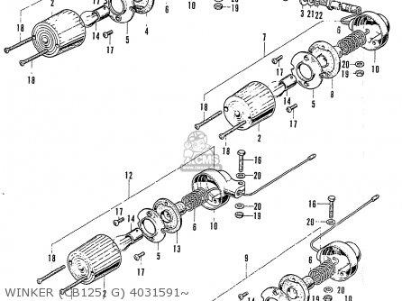 Honda Cb125k3 Winker cb125  G 4031591~