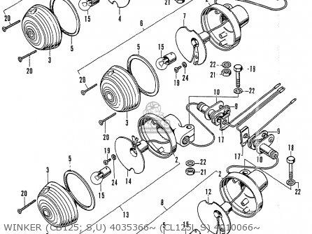 Honda Cb125k3 Winker cb125  S u 4035366~ cl125l S 4010066~