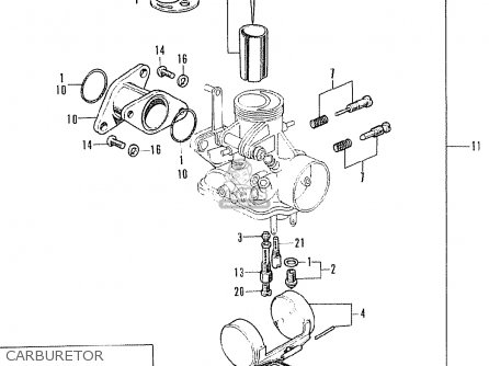 Honda Cb125k5 European Direct Sales Carburetor