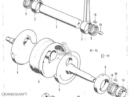 Honda Cb125k5 European Direct Sales Crankshaft