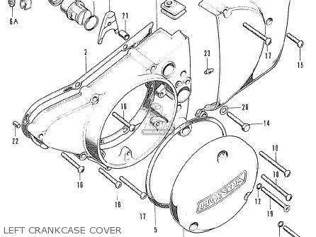 Honda Cb125k5 European Direct Sales Left Crankcase Cover