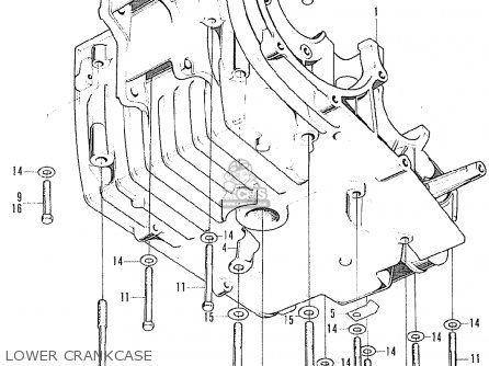 Honda Cb125k5 European Direct Sales Lower Crankcase