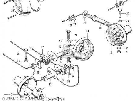 Honda Cb125k5 european Direct Sales Winker dk dm ed f