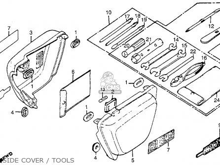 honda cb125s 1982  c  usa parts list partsmanual partsfiche
