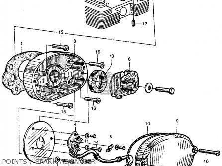 Muffler Cb Schematic Honda Cb350 Super Sport 350 K3 1971 Usa besides Wiring Diagram For 1970 Honda Ct70 as well Honda Cb400f Wiring Diagram furthermore Partslist additionally Honda Cb400 Wire Harness. on 1976 honda cb350