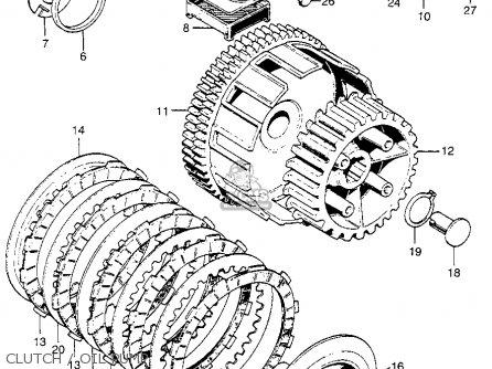 honda cb175k3 super sport 1969 usa parts lists and schematics CB175 Wiring-Diagram K-5 clutch oil pump