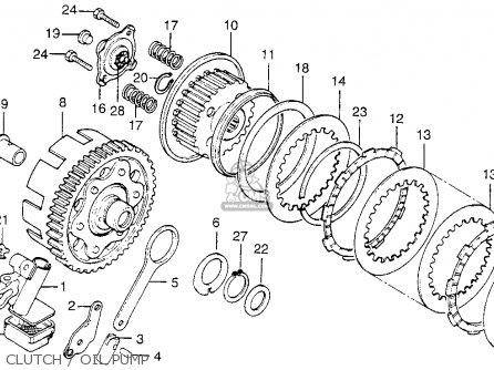 Honda Cb200t 1975 Usa Clutch   Oil Pump