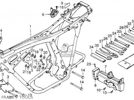 Honda Cb200t 1975 Usa Frame   Tools