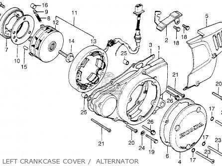 Honda Cb200t 1975 Usa Left Crankcase Cover    Alternator