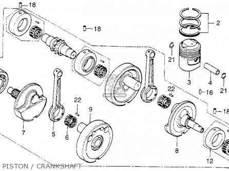 Honda Cb200t 1975 Usa Piston   Crankshaft
