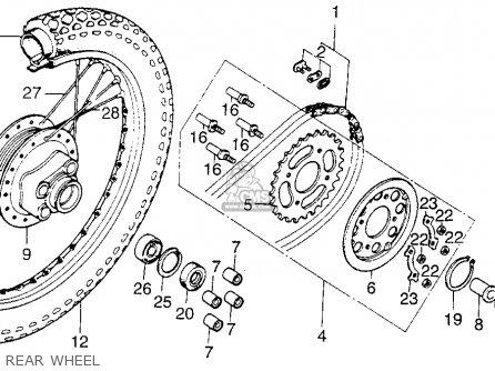 Honda Cb200t 1975 Usa Rear Wheel