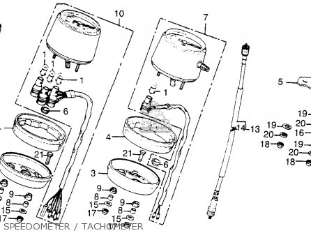 Honda Cb200t 1975 Usa Speedometer   Tachometer
