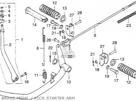 Honda Cb200t 1976 Usa Brake Pedal   Kick Starter Arm