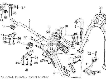 Honda Cb200t 1976 Usa Change Pedal   Main Stand