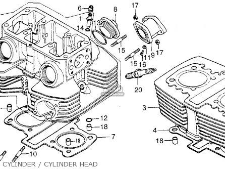 Honda Cb200t 1976 Usa Cylinder   Cylinder Head
