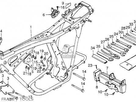 Honda Cb200t 1976 Usa Frame   Tools